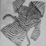 Халат теплый махровый Шиншилла, унисекс, махра, р.98-104-110-116-122-128