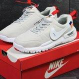Nike off White MARS кроссовки мужские бежевые с белым 6175