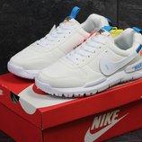 Nike off White MARS кроссовки бежевые с синим 6178