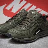Кроссовки Nike Air, хаки,35,36.37.38.39.40 41 размер, кожа,унисекс, дышащие, новинка