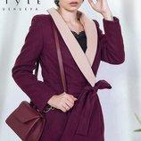 Пальто кашемир ситепон 80 скл.1 арт.45090 цвет марсаловый