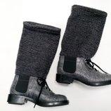 Ботинки Chanel Шанель , кожа крокодила, твидовый носок, оригинал.