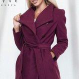 Пальто кашемировое ситепон 80 на подкладке скл.1 арт.45084 марсаловый