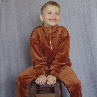Велюровый джемпер костюм Вивьен рост 92-170