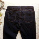 Синие джинсы джеггинсы скинни с пуш-ап на высокую узкачи американки на резинке Denim Co