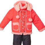 Комбинезон полукомбинезон и курточка зимний для девочек от 3,5 5 лет, рост 104-110 распродажа