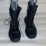 Ботинки берцы сапоги кожаные новые прошитые р.42 41 унисекс