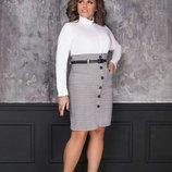 платье офисное ремень Размеры-42 44 46 48-50,50-52,52-54