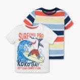 футболки, футболка комплект 2шт для мальчика 104,110,116,122см C&A