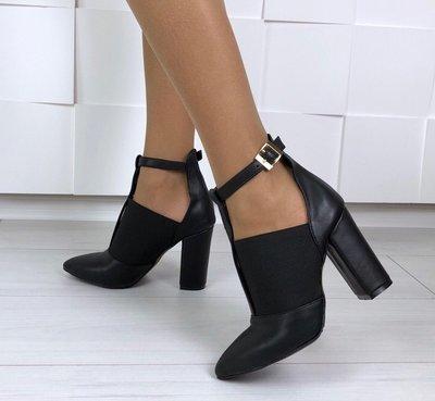 Туфли женские с резинкой на каблуке 10 см натуральная кожа Ботильоны Mante  Rio fcf3ec36b11