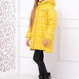 Яркая и оригинальная зимняя куртка для девочки 122-152р