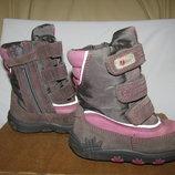 Сапожки чобітки зимові теплі шкіряні ELEFANTEN -TEX Оригінал р.20 стелька 13 см