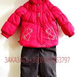 Акция Зимний комплект для девочек HEARTY 18316-381