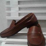 Кожанные мокасины, туфли 42 р. 27,5 см 960 грн