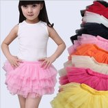 Детские фатиновые юбки Пачки, 90-160 см, подъюбник