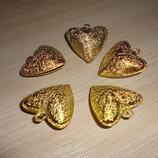 Колокольчик-Бубенчик металлический. Сердце 35 мм