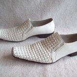 Туфли кожа Gucinari, б/у 1 раз, размер 40