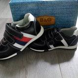 Кожаные кроссовки b&g на мальчика