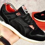Мужские кроссовки кроссовки Puma замш серые и черные 41-45р