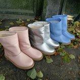 Шикарные натуральные кожаные зимние женские угги сапожки. 35,36,37,38,39,40,41