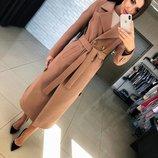 Стильное длинное пальто кашемир Дания
