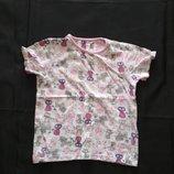 Легкая пижамная футболка принт кошечки