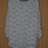Р. - XXL 3xl/46/18 Нарядная свободная блуза, рубашка. Фирменная.