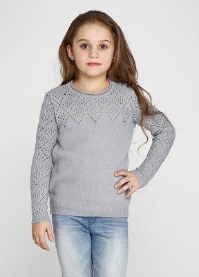 Витончений сірий светр для дівчинки 128-152р  309 грн - детские ... 1307428bdc203