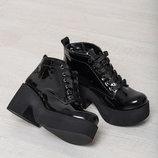 Стильные натуральные кожаные демисезонные ботинки 36,37,38,39,40