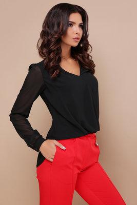 4047a737206 Блуза Айлин Д р черная блузка с кружевом Цвет черный скл.2  370 грн ...