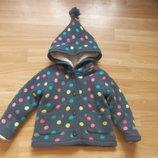 Фирменная кофта куртка F&F малышке 9-12 месяцев состояние отличное