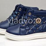 Детские демисезонные ботинки для девочки синие 25р 26р 3861