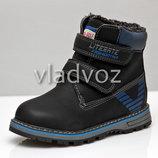 Детские зимние ботинки для мальчика черные 27р 28р 30р 3863