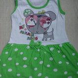 Стильное хлопковое детское платье