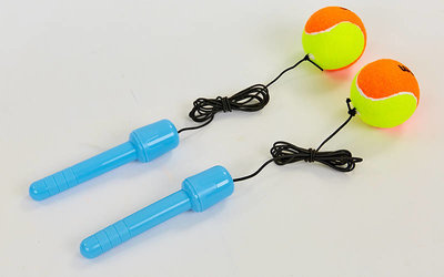 Тренажер для координации 6895 ручки с двумя мячиками