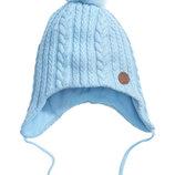 Шерстяные шапка H&M рост 92-104 см утеплитель флис