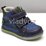 Демисезонные ботинки для мальчика синие 21р-23р 3867