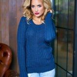 Стильный женский свитер Ольга 42,44,46,48 6 цветов