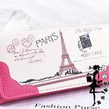 Стильный кошелек с принтом Парижа В Наличии