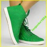 Стильные Зеленые Ботинки-Кроссовки Барселона-Clowse-Польша