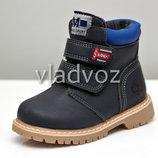 Детские демисезонные ботинки для мальчика GFB черные 29р-30р 3873