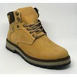 Мужские кожаные ботинки MS ROCK желтые мат