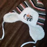 Детская зимняя шапочка с мехом зимняя ушанка мальчику