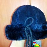Зимняя меховая шапочка на девочку