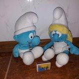 Мягкие игрушки Смурфы Смурфики персонажи из фильма Дисней Disney.