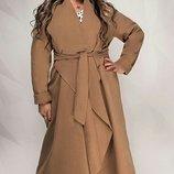 Пальто плотный кашемир хл размеры 50 по -60 скл.1 арт.45407