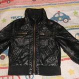 Кожанка куртка деми H&M 2-3,реально до 4х лет