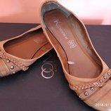 Балетки туфли 40 размер кожзам