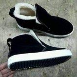 Универсальные натуральные кожаные ботинки слипоны 32,33,34,35,36,37,38,39,40,41