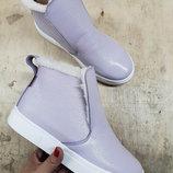 Хит сезона Универсальные натуральные кожаные женские ботинки слипоны 32,33,34,35,36,37,38,39,40,41